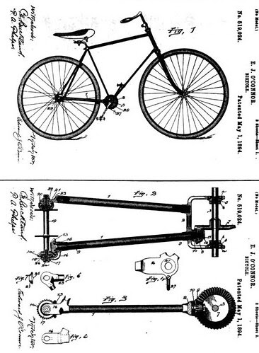 Shaft Drive patent, 1894