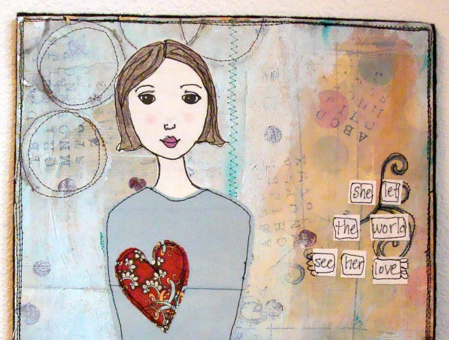 Art Quilt - See Her Love