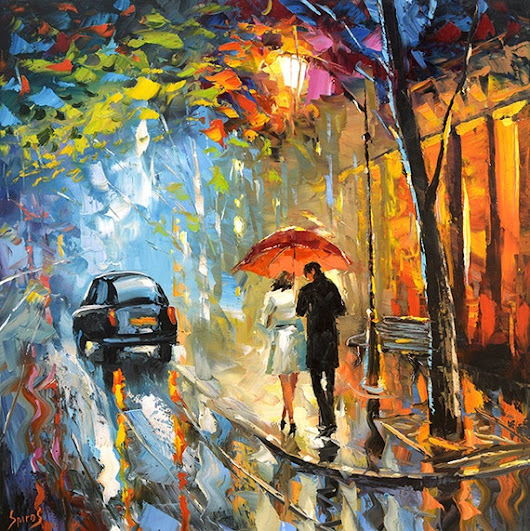 September rain. Oil Painting on canvas by Dmitry by spirosart