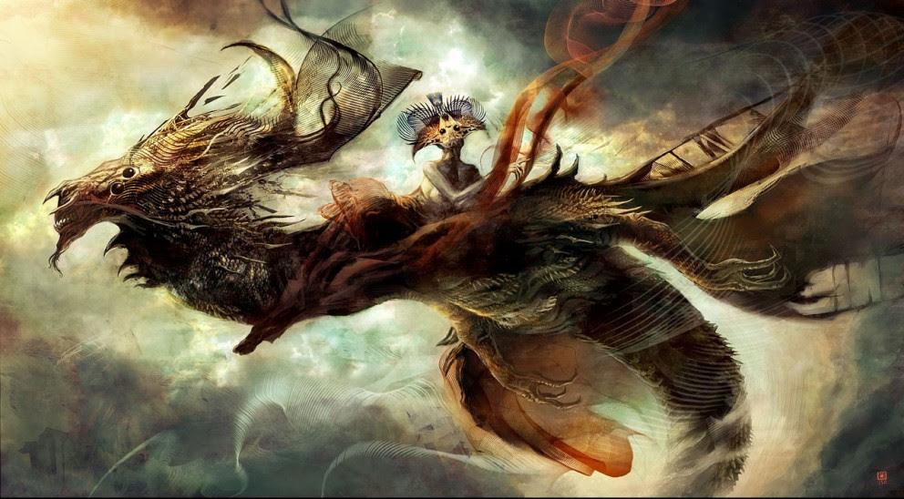 Concept Art: Abstract Dragon - 2D Digital, Concept art ...