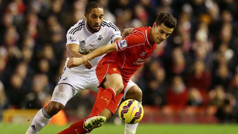 Coutinho (phải) và đồng đội sẽ bỏ túi 3 điểm trước Swansea?