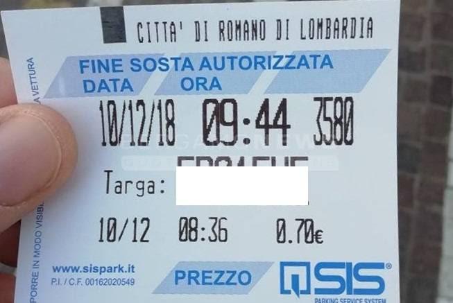 A Romano Ticket Per La Sosta Con Numero Di Targa Il Sindaco