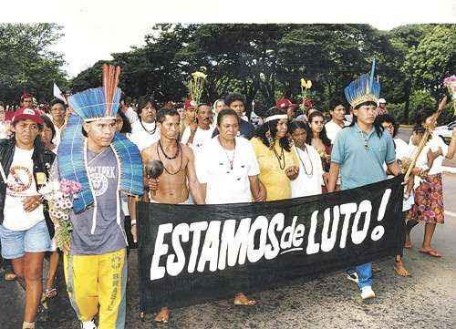 O brutal assassinato, ocorrido em 1997, chocou a cidade e provocou indignação na comunidade indígena (Paulo de Araújo/CB/D.A. Press - 21/4/97)