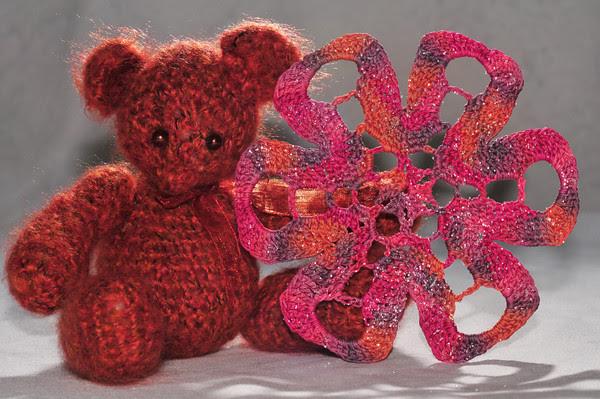 Cinnamon Bear and Valentine Wave Snowflake