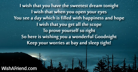 I Wish That Good Night Poem