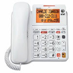AT&T CL4940 One-Line Corded Speakerphone, Tilt Display, White (ATTCL4940)
