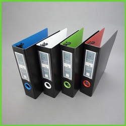 http://www.keepfiling.com/Mini-Binder-for-5-1-2-x-8-1-2-inch-documents-p/30500.htm