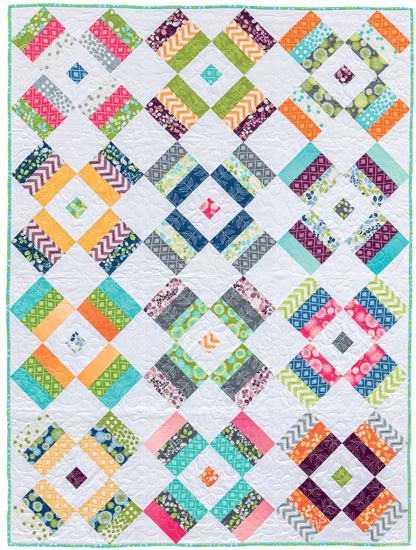 Fireworks quilt by Kate Henderson; from her book Strip Savvy