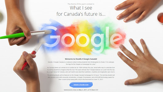 Canadian students asked to design Google doodle for Canada's 150th birthday - CityNews