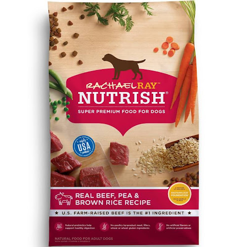 Rachael Ray Nutrish Food for Dogs, Real Beef, Pea & Brown Rice Recipe - 40 lb