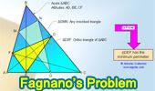 Problema de Fagnano, Triangulo inscrito de mínimo perímetro, Pies de las alturas.