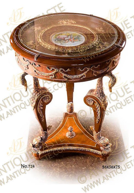 Napoleon Second Empire Style gilt-ormolu-mounted porcelain Sevres top Display End Table / Salon bijouterie