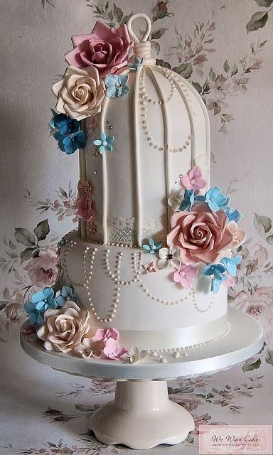 2 tier birdcage cake