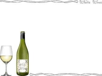 スマホ用ページ白ワインのポストカード用イラスト条件付フリー素材集
