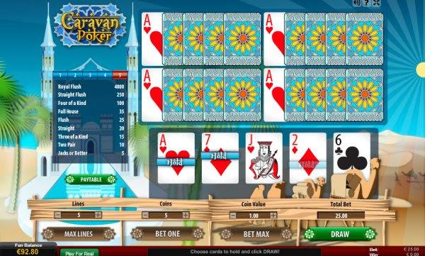 Caravan Poker JoB Video Poker