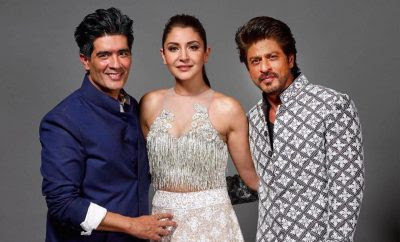Shahrukh Khan and Anushka Sharma at Mijwan Summer Couture 2017