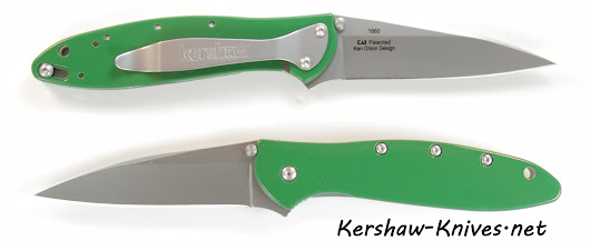 Kershaw Leek Knife with Tractor Green Handle