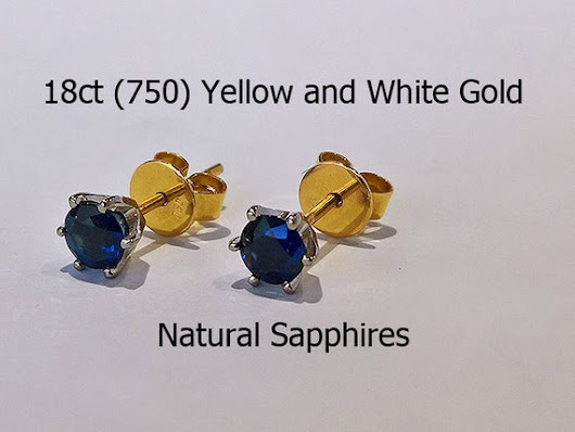 18ct 18K 750 Yellow and White Gold Gold Natural by HatziJewellers