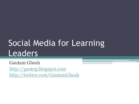Social media for learning leaders
