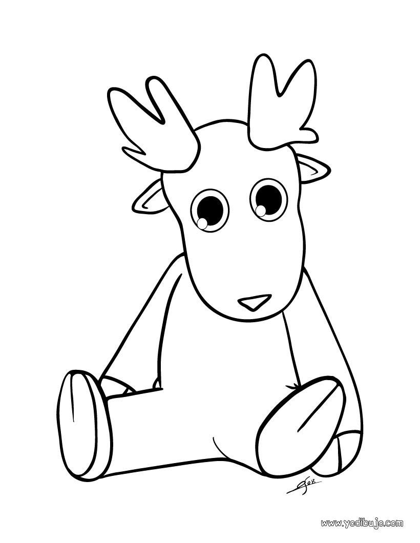 Dibujos Para Colorear Un Animal Navideno De Felpa Es Hellokids Com