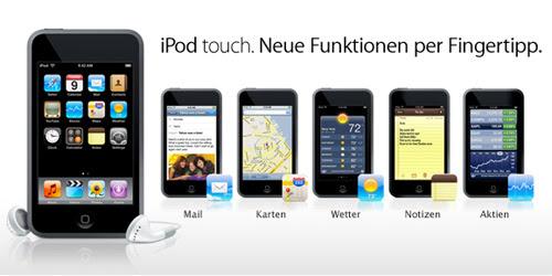 Die fünf neuen Funktionen des Apple iPod Touch