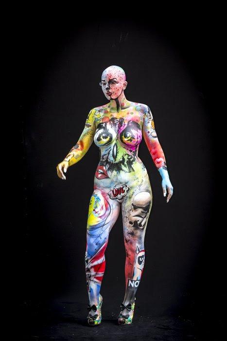 Vücut Boyama Sanatının En çarpıcı Eserleri 26 Pudra
