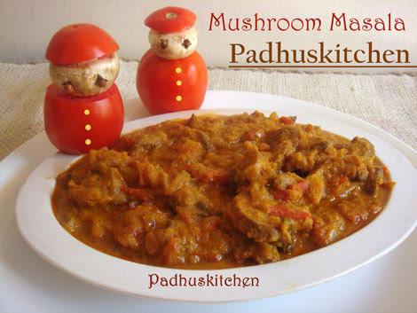 Mushroom Masala Mushroom Gravy Mushroom Recipes Padhuskitchen