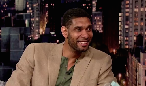 Tim Duncan Does Late Night With David Letterman - Hooped Up