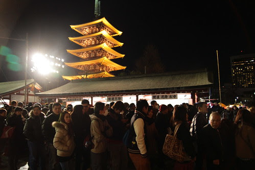 People lining up for Hatsumode