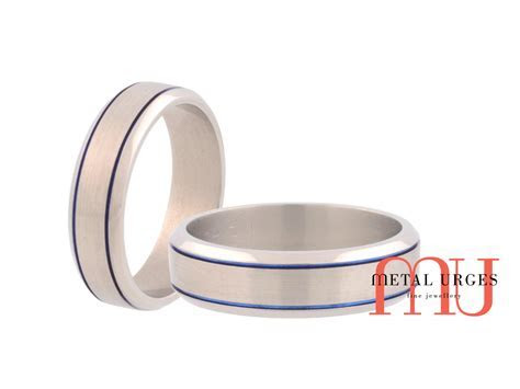 Brushed titanium wedding ring. Custom made in Australia