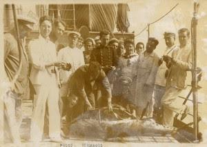 Odón de Buen, con su característico bigote, en una campaña oceanográfica