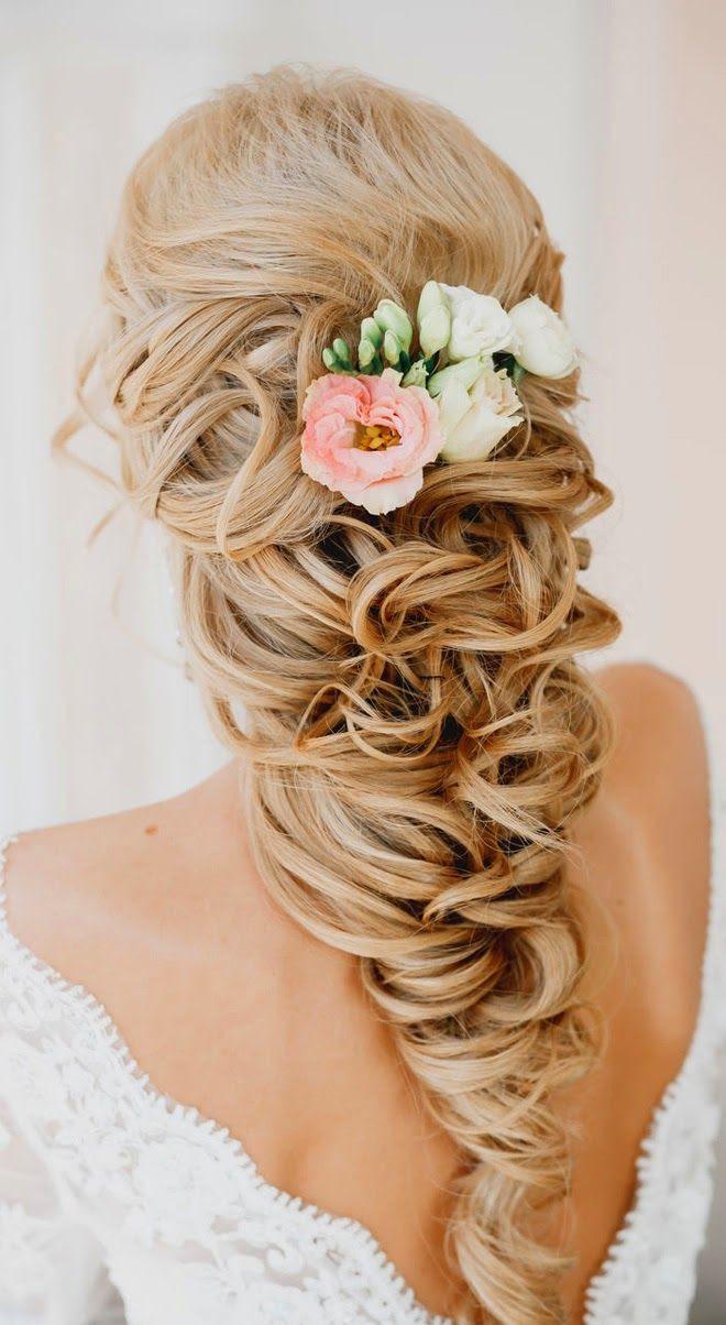 Resultado de imagen para peinado trenza lateral novias