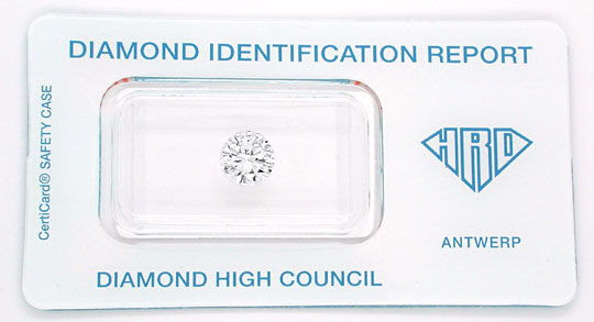 Original-Foto 1, DIAMANT HRD BRILLANT 1,26ct LUPENREIN RIVER SG, DIAMOND