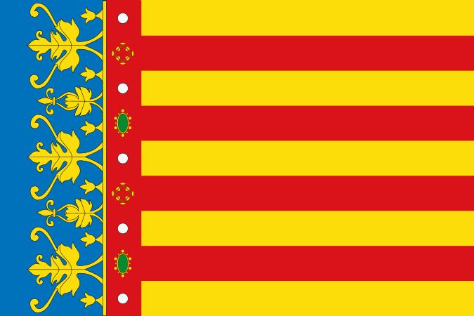 Archivo:Bandera de la Comunidad Valenciana (2x3).svg