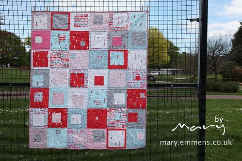 Sherbet Pips finished quilt