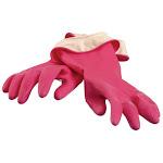Casabella 46040 Waterstop Premium Gloves, Latex, Pink, Small