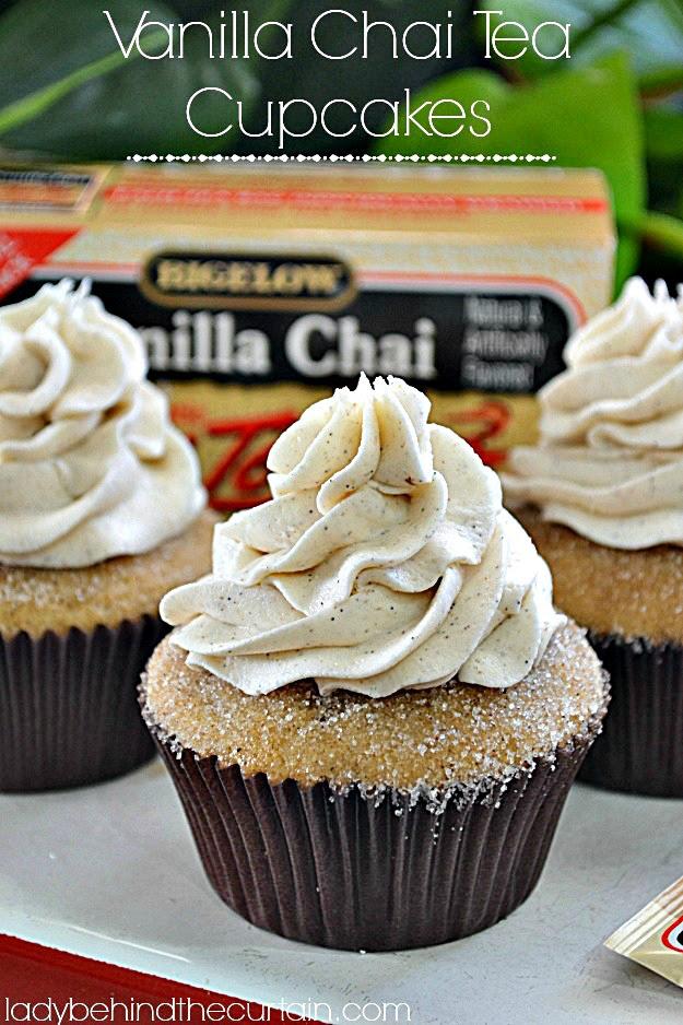 Vanilla Chai Tea Cupcakes, Lady Behind The Curtain