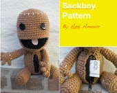 Sackboy Pattern Crochet Amigurumi Open Mouth Zipper