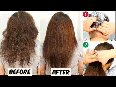 Permanent Hair Straightening At Home - Hair Straightening Tutorial - Hair