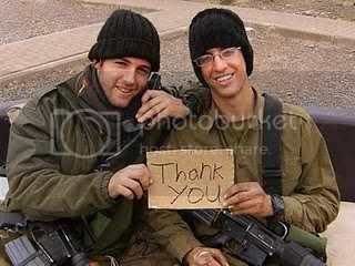 Israeli soldiers are happy to receive these hats