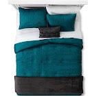 Teal Linework Geometric Comforter Set (Twin/Twin Extra Long) 4pc - Room Essentials, Blue