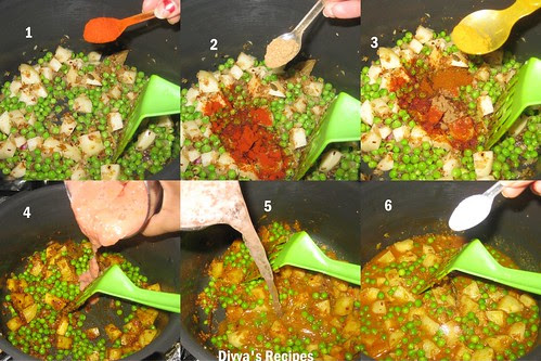 green peas curry3