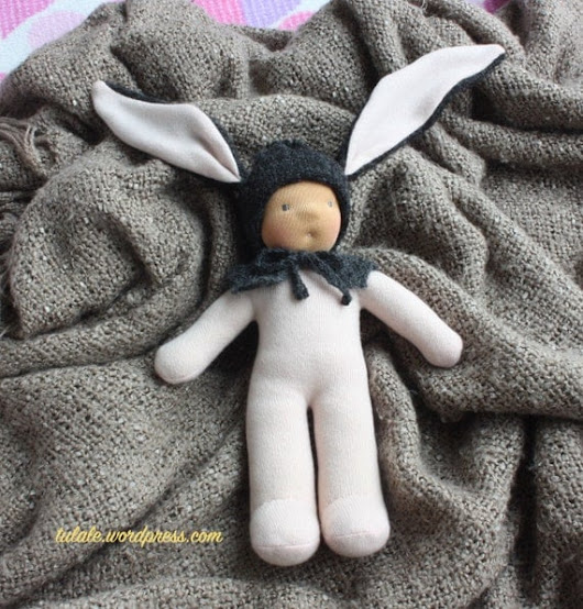 OOAK 12 inch Aron Wee baby hare by Tulale waldorf inspired