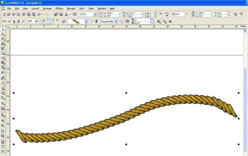 How To Build A Rope Wire Chain With Corel