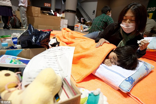 Evacuation: Satomi Osumi, 18, and her family were moved away from Fukushima to a refuge centre north of Tokyo