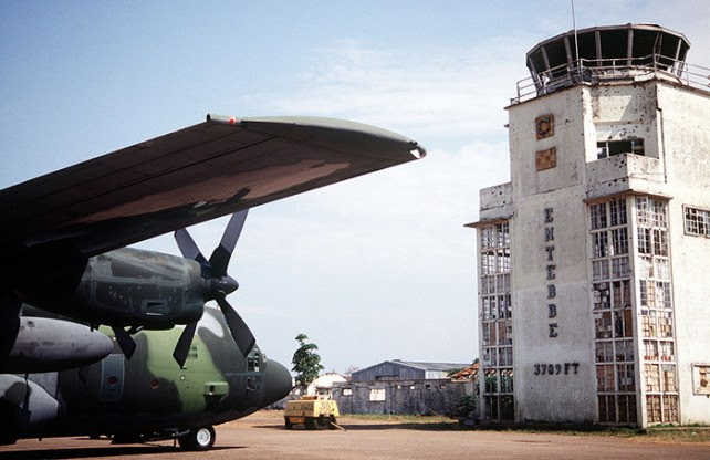 The air terminal at Entebbe, Uganda. 1994. (Image source: WikiCommons)