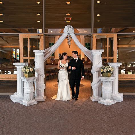 $34.00 two tall pillars Wedding Columns   OrientalTrading