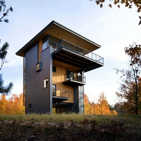 architect wooden house perfect concept  small plots