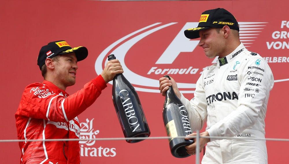 Victoria para Bottas que hace más líder a Vettel