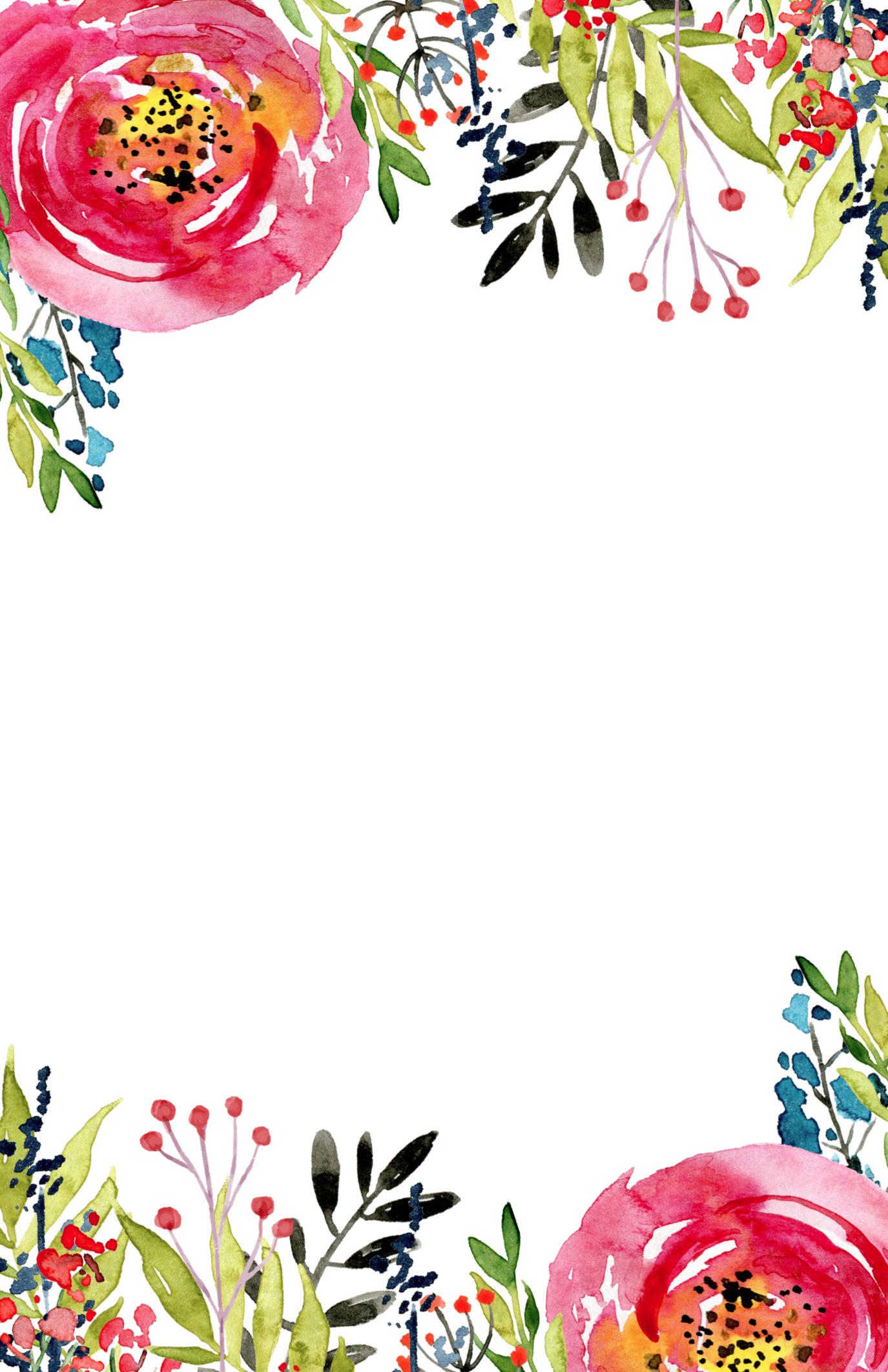 Flower intvitation template